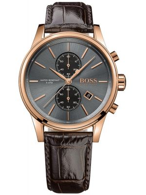 Mens Hugo Boss Jet classic rose gold chrono 1513281 Watch