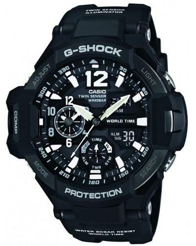 Mens Casio G Shock black resin strap GA-1100-1AER Watch