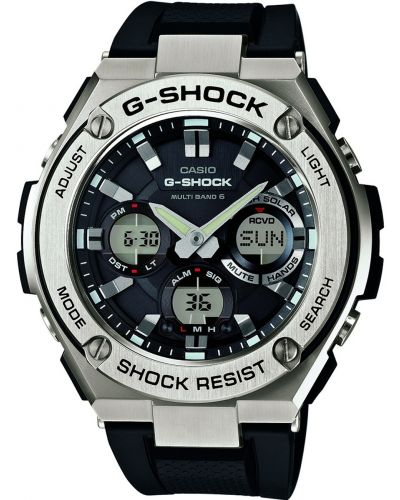 Mens Casio G Shock steel rubber strap GST-W110-1AER Watch