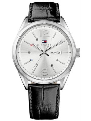 Mens Tommy Hilfiger Charlie classic black leather strap 1791060 Watch