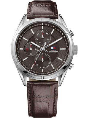 Mens Tommy Hilfiger Charlie brown leather strap 1791126 Watch