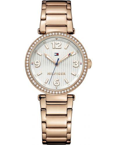 Womens Tommy Hilfiger Lynn crystal set rose gold dress 1781590 Watch