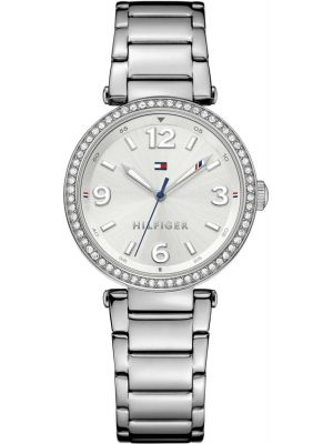 Tommy Hilfiger Lynn crystal set stainless steel dress 1781589 Watch