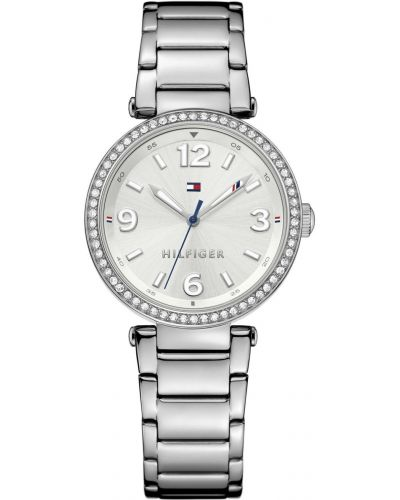Womens Tommy Hilfiger Lynn crystal set stainless steel dress 1781589 Watch