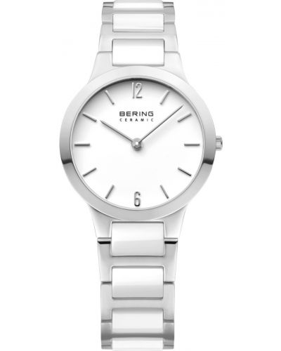 Womens Bering Ceramic stainless steel white dress 30329-754 Watch