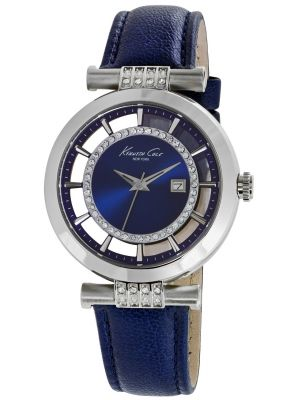 Womens Kenneth Cole stainless steel blue leather strap KC10021102 Watch