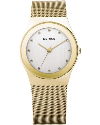 Womens Bering Classic gold plated milanese strap 12927-334 Watch