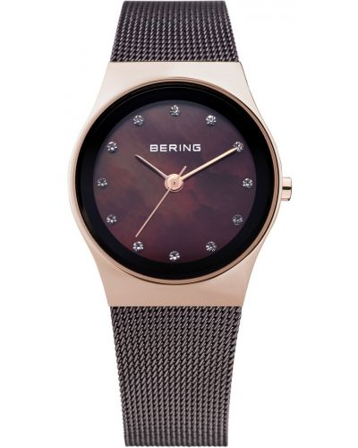 Womens Bering Classic rose gold plated milanese strap 12927-262 Watch