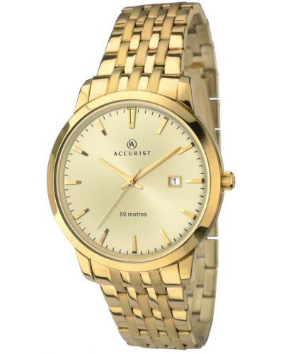 Mens Accurist Classic gold plated 7019.00 Watch
