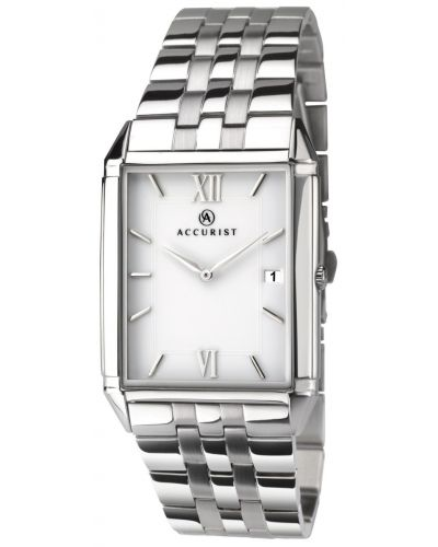 Mens Accurist Classic rectangular stainless steel 7031.00 Watch