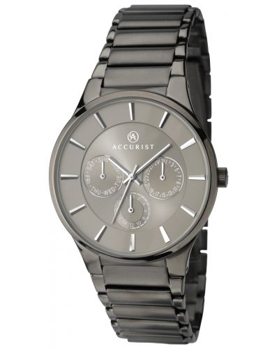 Mens Accurist Classic grey stainless steel 7038.00 Watch