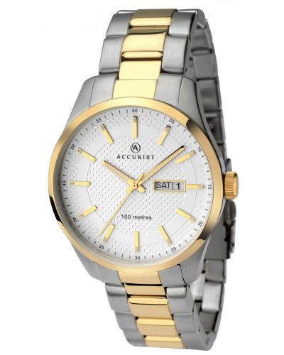 Mens Accurist Classic two toned stainless steel 7057.00 Watch
