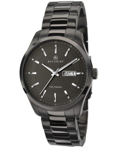 Mens Accurist Classic gun metal plated stainless steel 7058.00 Watch
