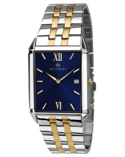 Mens Accurist Classic rectangular two toned 7062.00 Watch