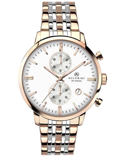 Mens Accurist Chronograph rose gold stainless steel 7083.00 Watch