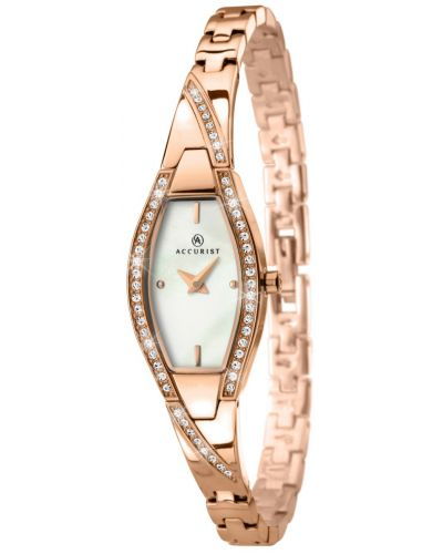 Womens Accurist Dress Crystal set rose gold 8030.00 Watch