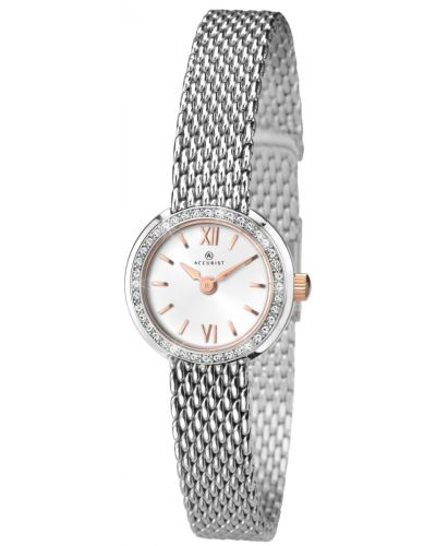 Womens Accurist Classic crystal set stainless steel 8060.00 Watch