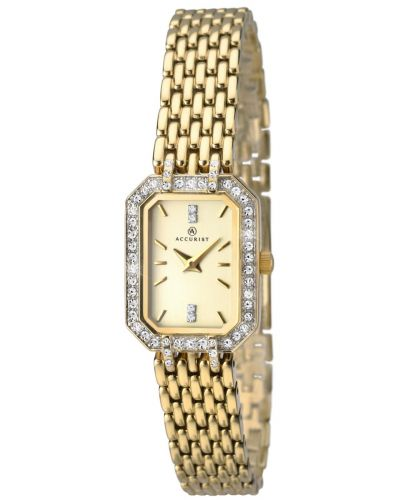 Womens Accurist Classic gold plated crystal set 8062.00 Watch