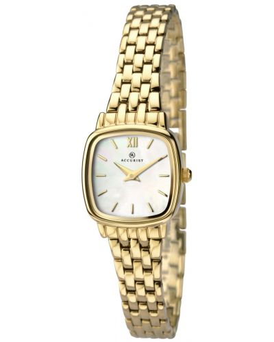 Womens Accurist Classic polished gold plated 8068.00 Watch