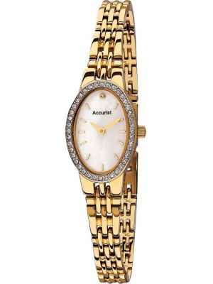 Womens Accurist Dress crystal set gold plated LB1346P Watch