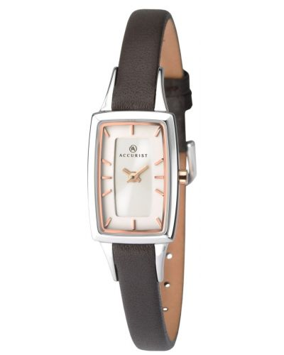 Womens Accurist Classic rectangular stainless steel 8075.00 Watch