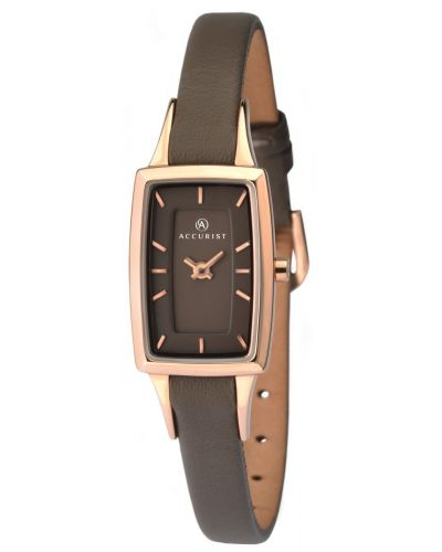 Womens Accurist Classic rose gold leather strap 8076.00 Watch