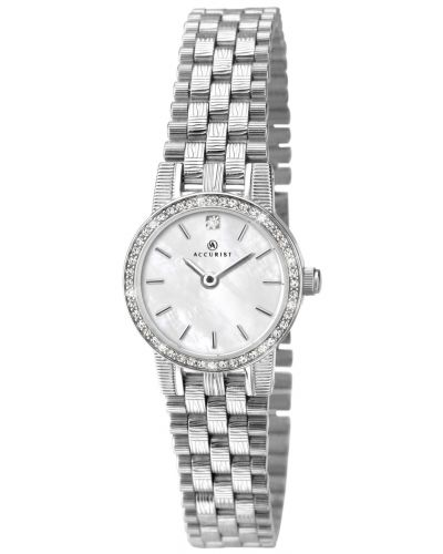 Womens Accurist Classic serrated stainless steel 8077.00 Watch