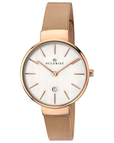 Womens Accurist Contemporary rose gold large cased 8079.00 Watch