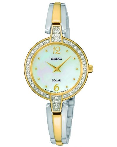 Womens Seiko Solar two toned SUP288P9 Watch