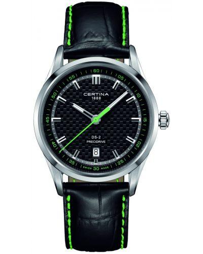 Mens Certina DS-2 black leather strap C0244101605102 Watch