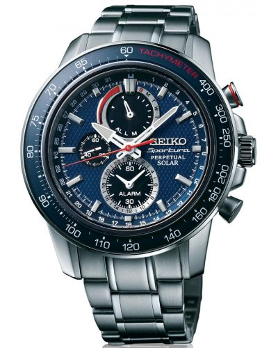 Mens Seiko Sportura solar SSC355P1 Watch