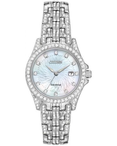 Womens Citizen Silhouette mother of pearl EW1220-80D Watch