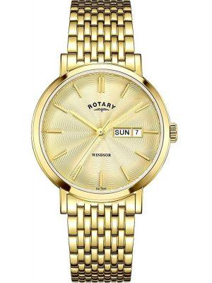 Mens Rotary Windsor polished GB05303/03 Watch
