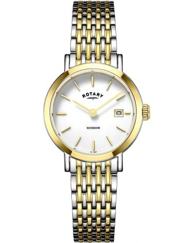 Womens Rotary Windsor gold plated stainless steel LB05301/01 Watch