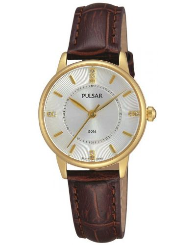 Womens Pulsar  Dress Wear crystal set dial PH8182X1 Watch