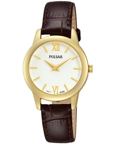 Womens Pulsar  Classic plain gold plated  PRW020X1 Watch