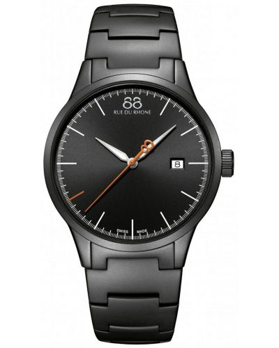 Mens 88 Rue Du Rhone Rive matt black 87WA154104 Watch