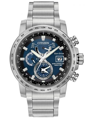Mens Citizen World Time A-T radio controlled AT9070-51L Watch