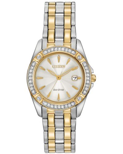Womens Citizen Silhouette gold plated stainless steel EW2354-53P Watch