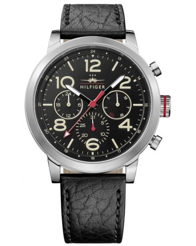 Mens Tommy Hilfiger Jake black leather strap 1791232 Watch