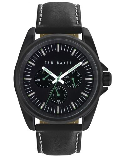 Mens Ted Baker black leather strap TE10025262 Watch