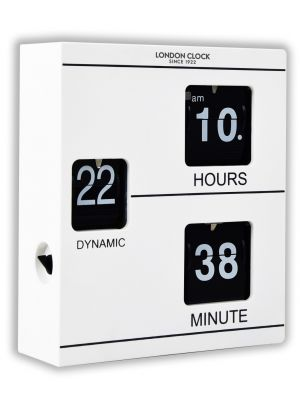 Klikk White Flip digit wall clock from the Oslo range | 03158