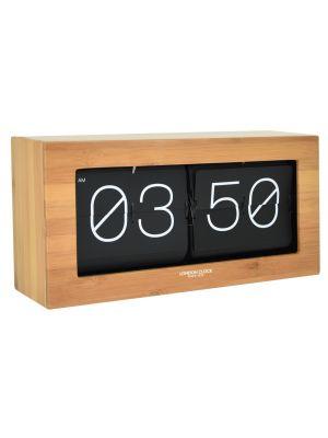 Wood Veneer Stor mantel clock with flip digits | 03140
