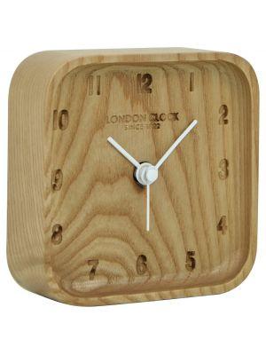 Solid wood minimal alarm with debossed numerals | 04167