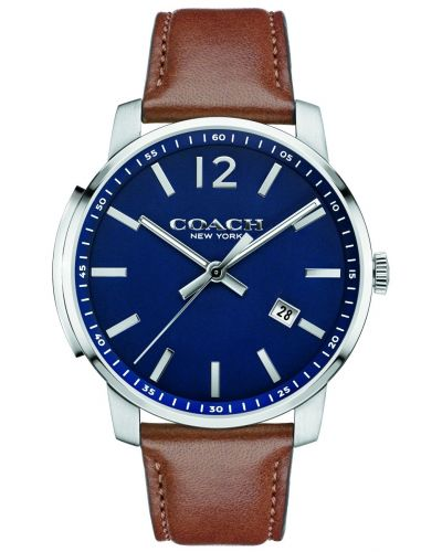 Mens Coach Bleecker brown leather 14602004 Watch