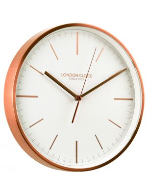 Brushed Copper finish cased minimal wall clock | 01102