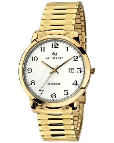 Mens Accurist Classic gold plated 7081.00 Watch