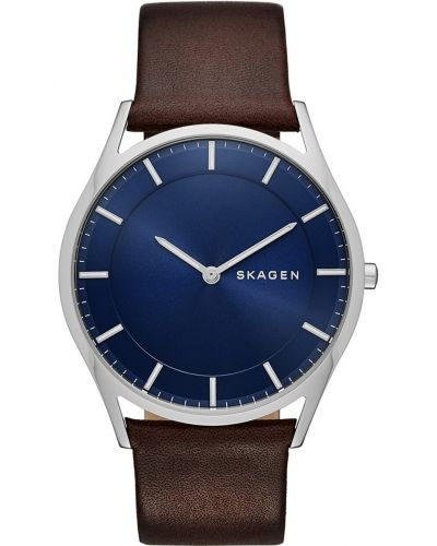 Mens Skagen Holst genuine leather SKW6237 Watch