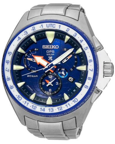 Mens Seiko Prospex Marinemaster GPS Solar Dual-Time Limited Edition SSF001J1 Watch