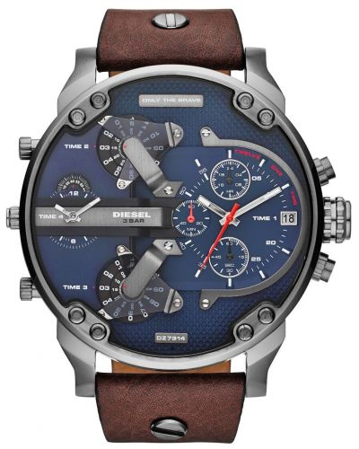 Mens Diesel Mr Daddy gun metal stainless steel DZ7314 Watch